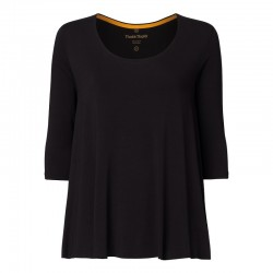 Circle shirt |black|Tencel...