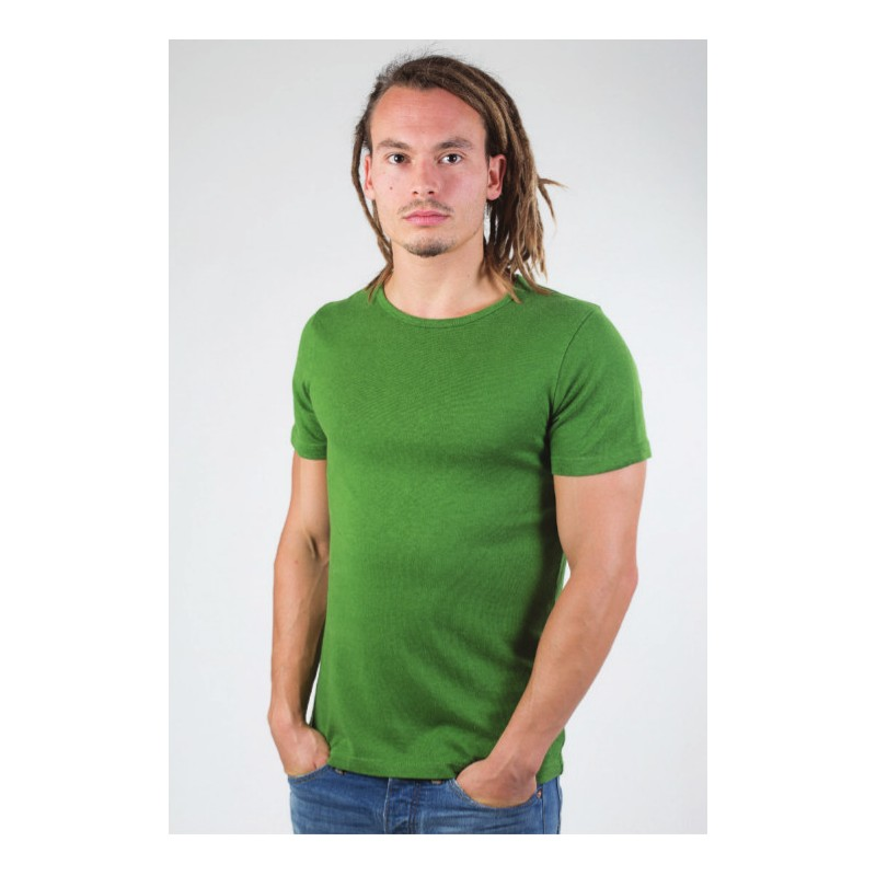 f1345f80784d Ekohelsinki - Men's green T-shirt, made of hemp and organic cotton - by Up  Rise