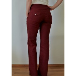Hemp pants, wide leg...