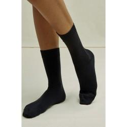 Luomupuuvilla-sukat, musta...