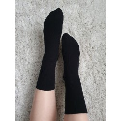 Davos socks in black |wool...